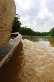 The Amazon River by boat