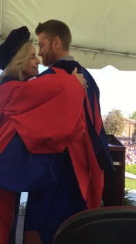 Commencement Speaker Marty Smith '98 and President Kyle.