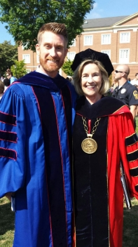 President Kyle and Commencement Speaker Marty Smith '98