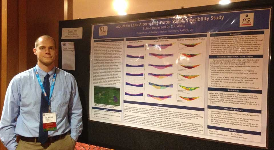 Robert Huber was recognized at the annual meeting of the Association of Engineering and Environmental Geologists' (AEG) annual meeting