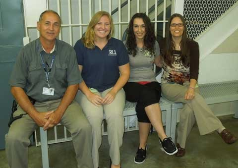 RU OT students while doing fieldwork at the Bland Correctional Center