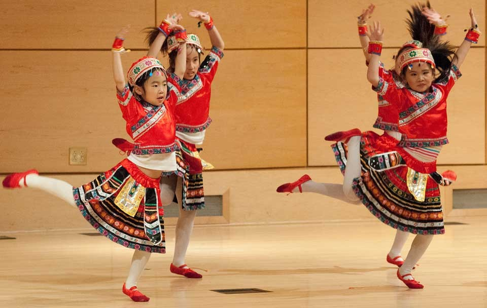 young dancers perform at RU's Chinese New Year celebration