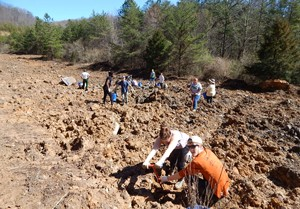 Radford University students and faculty traveled to eastern Kentucky during spring break to plant hundreds of trees.