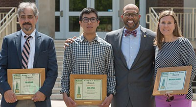 Radford University honored three individuals for their commitment to campus sustainability April 21 with the Keep'n It Green award.