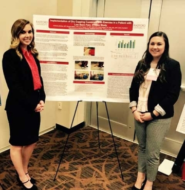 RU DPT students present a research poster