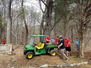 Rugby Team volunteers at Selu Conservancy.