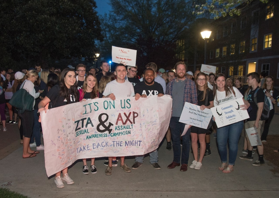 Radford University's Take Back the Night Rally