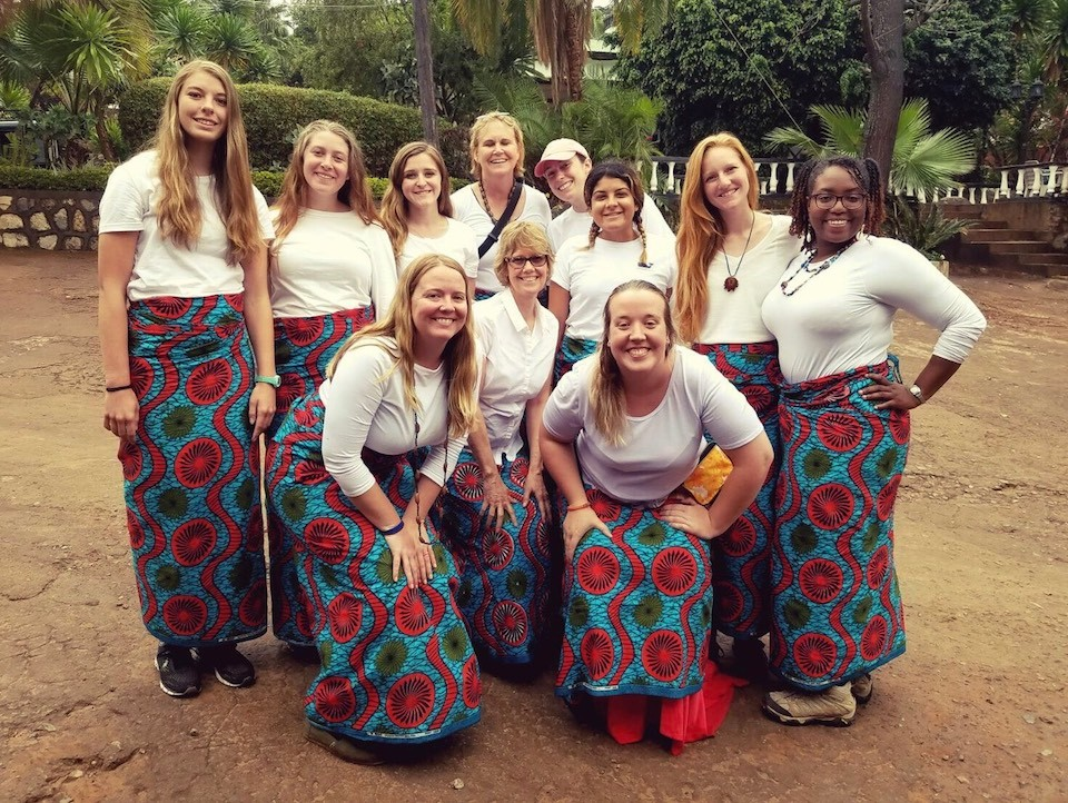 CEHD students in Malawi, Africa.