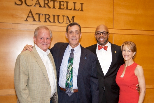 Rector of the Board of Visitors Mark Lawrence, Joe Scartelli, Radford University President Brian O. Hemphill and Cynthia Lawrence