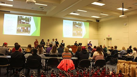 Radford University's Student Sustainability Leadership Team hosted a forum Dec. 5 to provide students an opportunity to share their visions and ideas for improving campus sustainability.