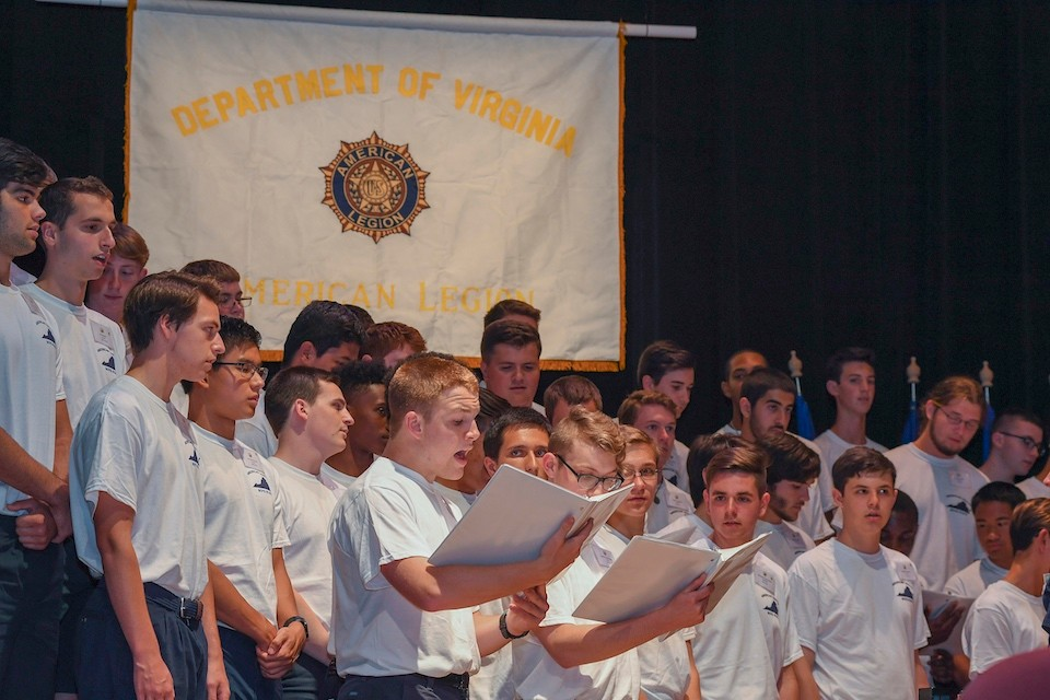 Members of the 2016 American Legion Boys State of Virginia.