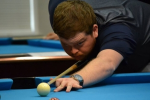 Players from five different universities competed in the Radford University-hosted pool tournament on March 24-25.