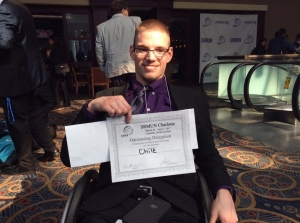 Michael Wilson, a founding member of Radford University's Model United Nations club, earned the Outstanding Delegate Award for the Commission on Science and Technology for Development at the Southern Regional Model United Nations conference in Charlotte.