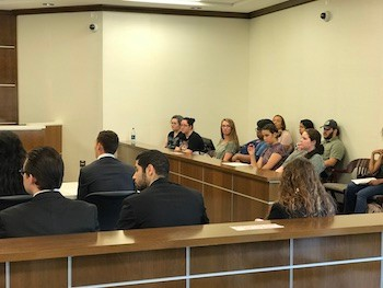 Jury listens in mock trial