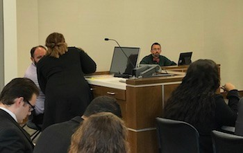 Witness waits to be questioned on day two