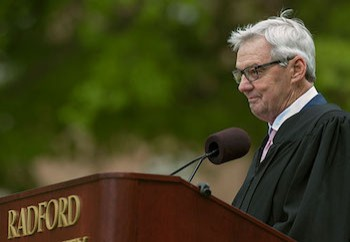 Alumnus Frank Beamer delivers the keynote address