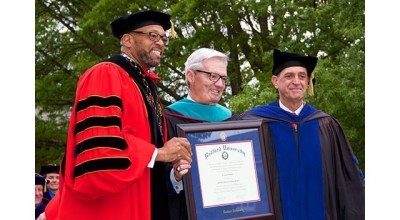 Frank M. Beamer was awarded an honorary doctoral degree following his commencement address.