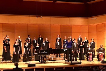 The high school choral invitational held in Performance Hall at the Covington Center in October.