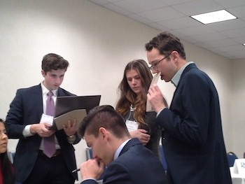 Students participate in the Model UN.