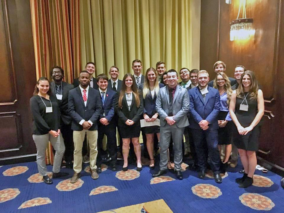 The Radford University students that attended the Southern Regional Model United Nations (SRMUN) in Atlanta.