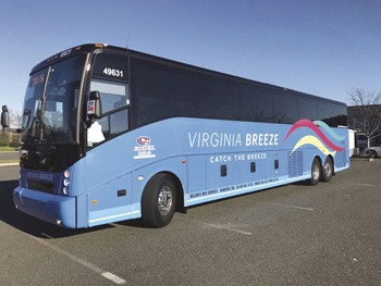 Image of the Virginia Breeze bus.