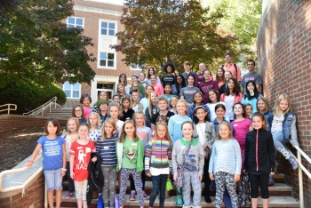 100 Girls of Code participants at Radford University