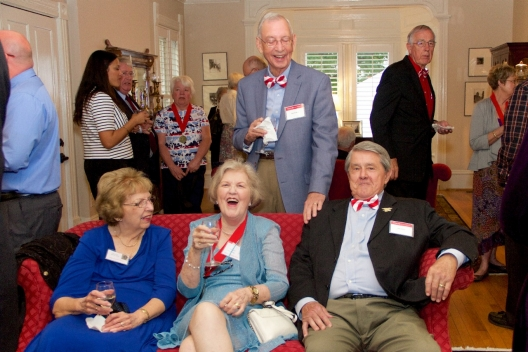 Members of the Class of 1967 and other alumnae and friends mingle at the Governor Tyler House.