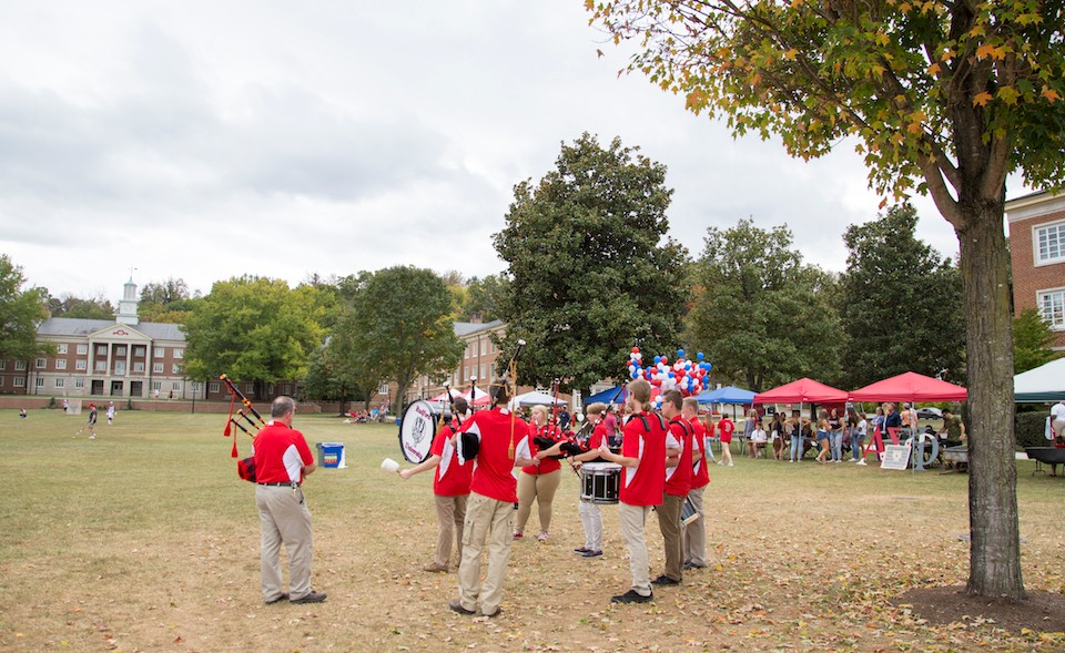 The Radford University Pipes and Drums Band