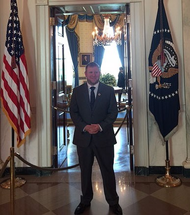 Senior economics major Chris Boggs spent the summer interning in the Office of Administration in the White House Information Technology department.