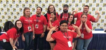 Students in the 2017 field study to Comic-Con
