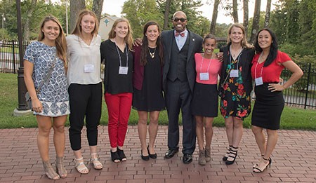 Honors Academy students were invited by President Hemphill to the Governor Tyler House Sept. 13 for a reception to honor their achievements.