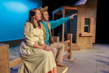 "Sarah Coleman and Mac McMullen in ""Oklahoma!"""