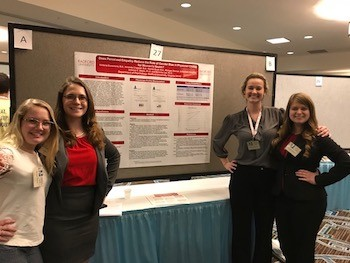 Psychology students at the SEPA Poster Session