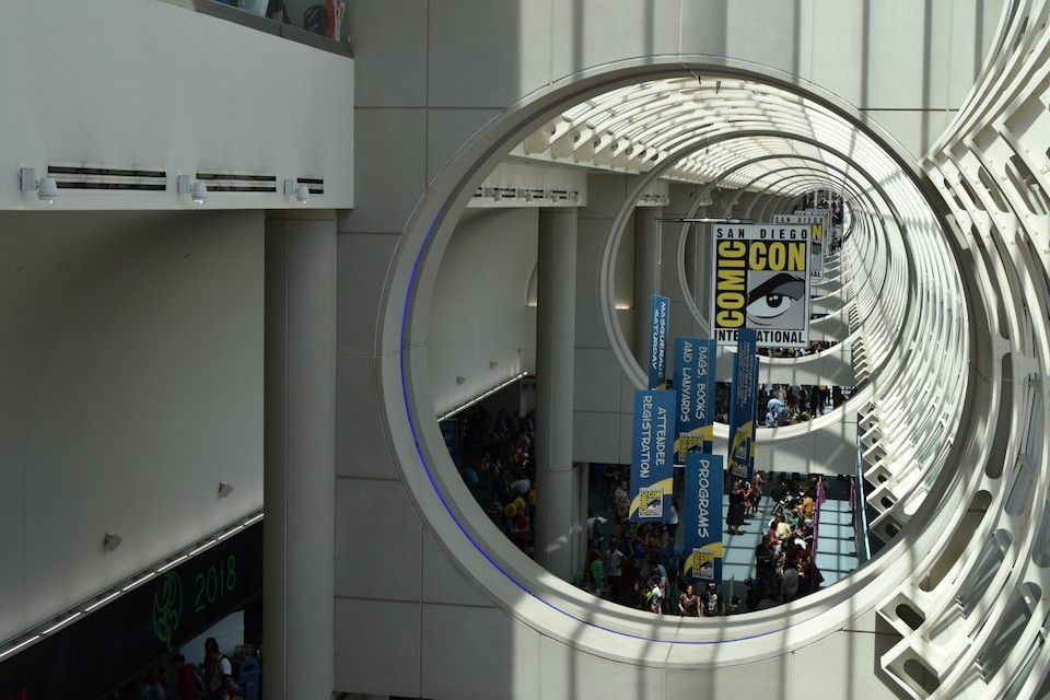 A view of part of the Comic-Con floor.