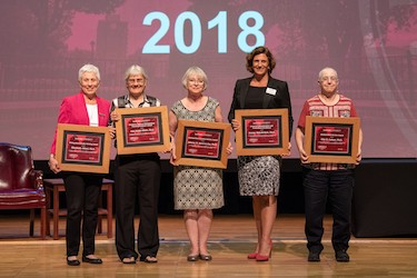 Radford University commemorated the beginning of the 2018-19 academic year on Aug. 23 by welcoming returning and new faculty and staff, celebrating successes of the previous year and looking ahead to a bright future.