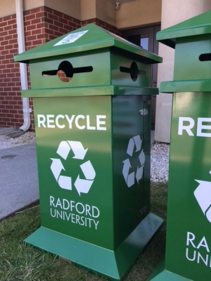 Radford University has modified campus recycling guidelines for the 2018-19 academic year.