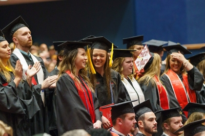Students celebrate graduation at the 2018 Winter Commencement Ceremonies.