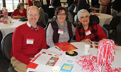 J. Shannon Hammons, M.S. '96, Ellen Rorrer '91 and Norma Keyes '70, M.S. '71 participate in the Second Annual Volunteer Summit.