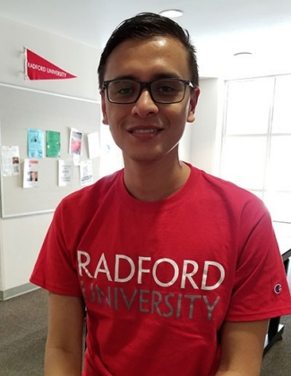 Johnny Picado, an aspiring special education teacher and student at Universidad Estatal a Distancia in Costa Rica, visited Radford University in the fall semester to learn more about his chosen profession and higher education in the United States.