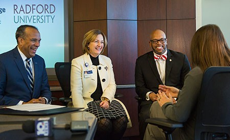 Radford University announced on Jan. 18 plans for a potential merger with the Jefferson College of Health Sciences in Roanoke. The announcement was covered by media outlets across Virginia.