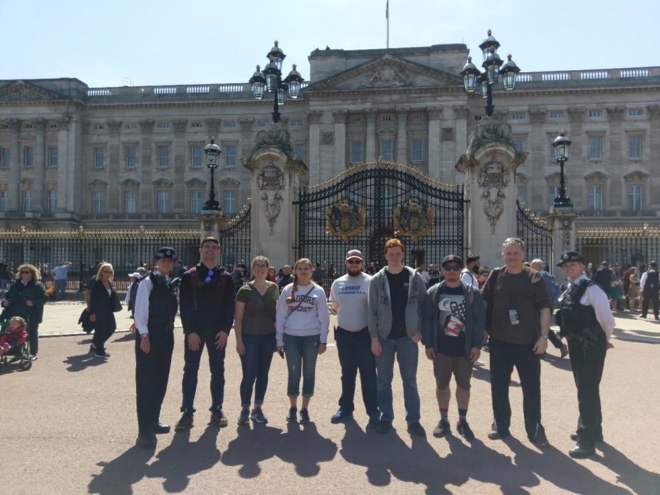 Outside of Buckingham Palace
