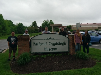The Radford University group at the National Cryptologic Museum in Maryland.