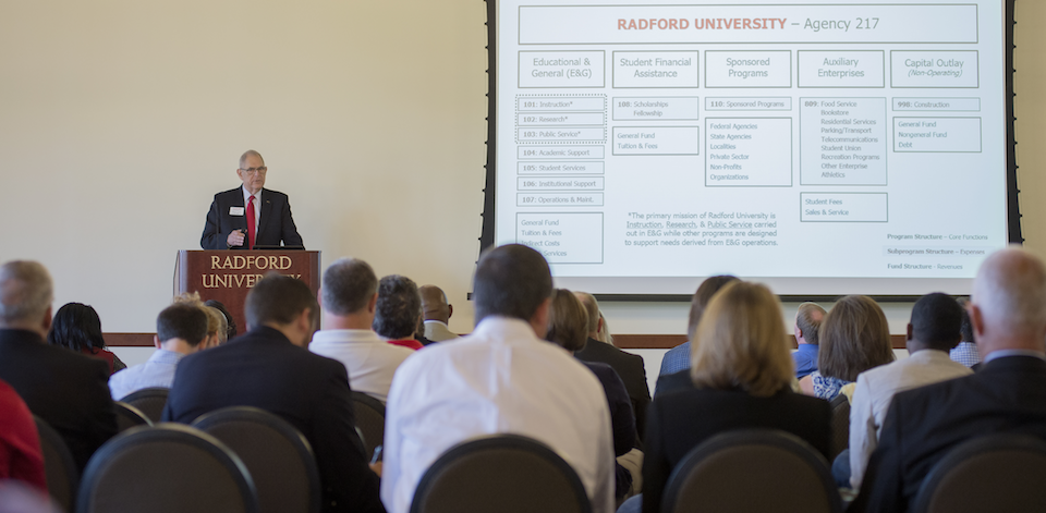 As Vice President for Finance and Administration and Chief Financial Officer, Alvarez has helped maintain Radford's status as one of the most affordable public higher education institutions in the state.