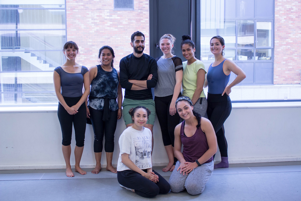 Dance students after taking a class with Ali Chahrour