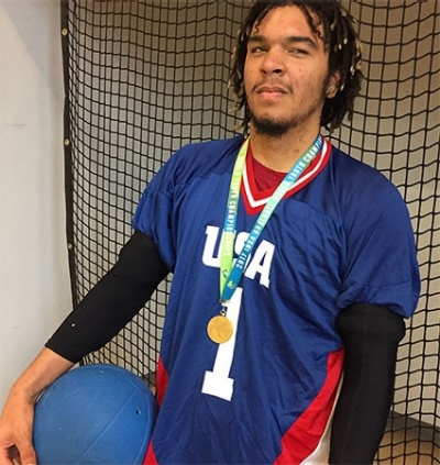 Freshman Sean Walker has won trophies, medals and an MVP honor while competing around the United States and internationally in goalball, a sport in which participants have some degree of visual impairment.