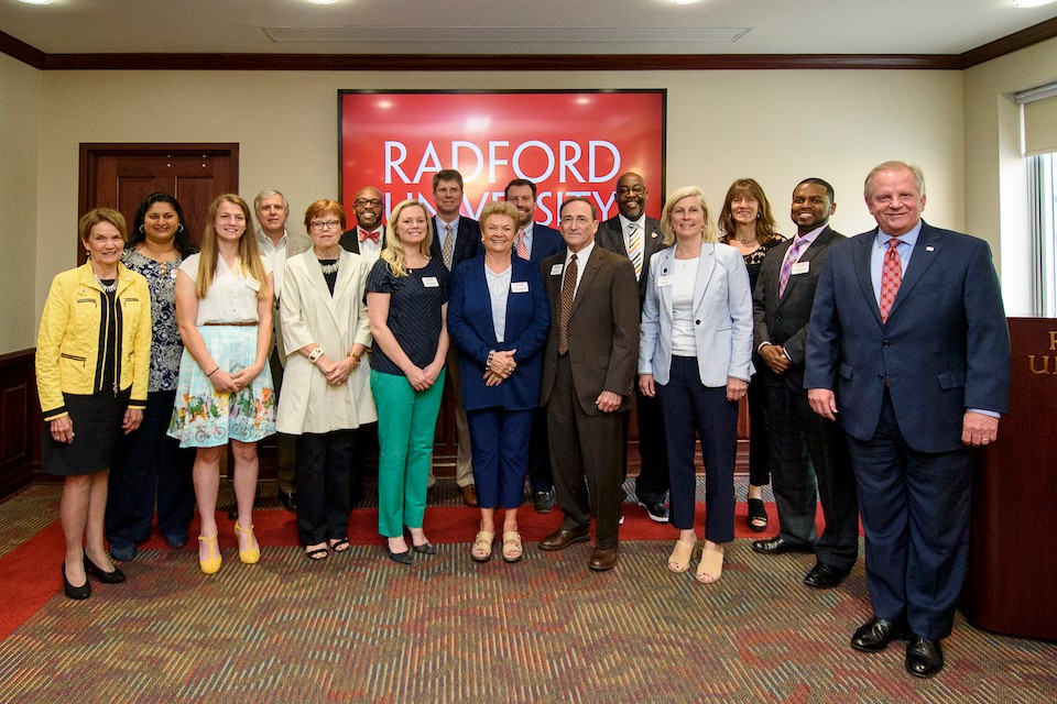 The 2017-18 Radford University Board of Visitors.