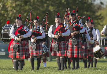 the Radford University Highlanders Pipe and Drum Band