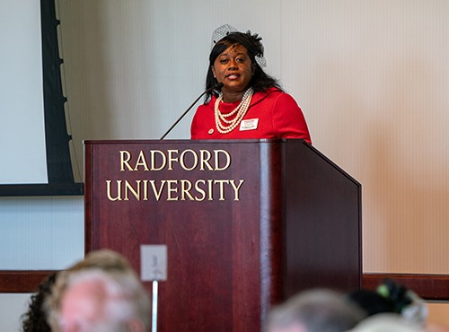 Angela Joyner, Ph.D., executive director of Radford University's Career and Talent Center, was the keynote speaker for the 6th annual Women of Radford luncheon.