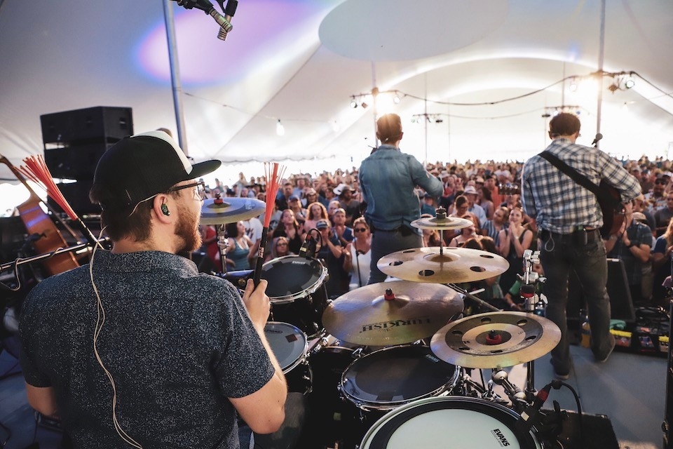 Scythian performing at MerleFest in 2019. Photo credit: Brendan McLean.