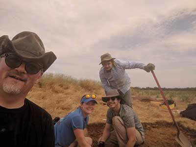 Three students in Radford University's Archeological Field School, led by Department of Anthropological Sciences Professor Jake Fox, excavated a well-preserved historic site at the Park.